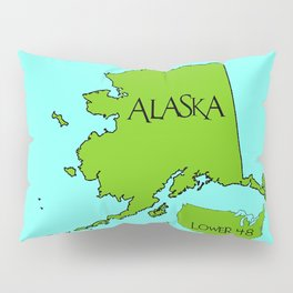 Alaska and the Lower 48 Forty-eight Pillow Sham