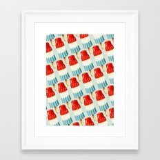 Bomb Pop Pattern Framed Art Print