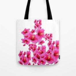 MODERN ART TROPICAL FUCHSIA HIBISCUS  FLOWERS Tote Bag