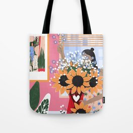 Plant Girl #5 Tote Bag