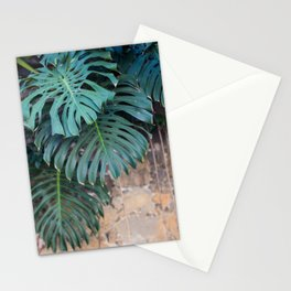 Monstera Print, Tropical Green Beauty Stationery Cards