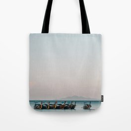Boats on the Andaman Sea Tote Bag
