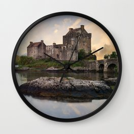 Eilean Donan Castle at sunrise Wall Clock