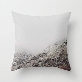 White breath Throw Pillow