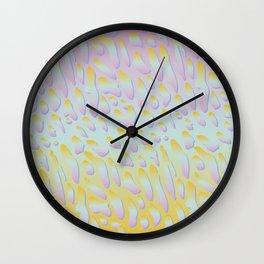 rainbow animal print Wall Clock
