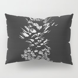 Pineapple with Glitch Pillow Sham