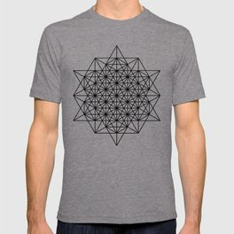 Star tetrahedron, sacred geometry, void theory T-shirt