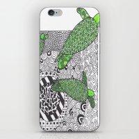 turtles iPhone & iPod Skins featuring Turtles by Kandus Johnson