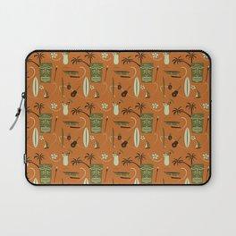 Orange Retro Hawaiian Tiki Hawaii Beach Laptop Sleeve