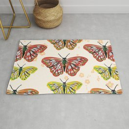 Butterfly Summer Pattern Rug