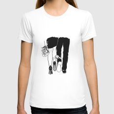 Till the love runs out LARGE Womens Fitted Tee White