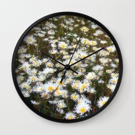 Ox-eye daisies II Wall Clock