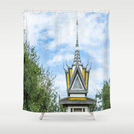 Killing Fields Memorial Stupa, Cambodia Shower Curtain
