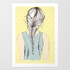 Hair braid Art Print