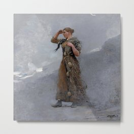 The Fisher Girl,  Winslow Homer Metal Print