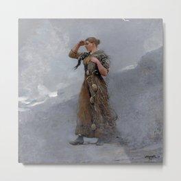 The Fisher Girl,  Winslow Homer Metal Print