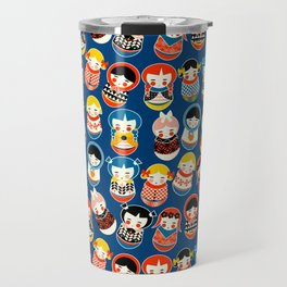 Babushka dolls vibrant pattern Travel Mug
