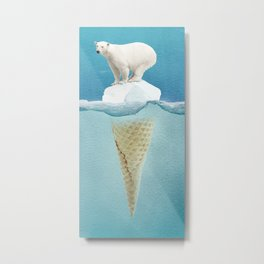 Polar ice cream cap Metal Print
