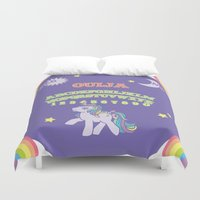 my little pony Duvet Covers featuring My Little Pony Ouija Board by Guts and Glitter