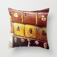shabby chic Throw Pillows featuring Shabby Chic  by TNP Photography
