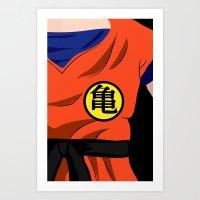goku Art Prints featuring Goku by Mariana Andrea