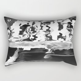 Dripping Tease in White and Black Rectangular Pillow