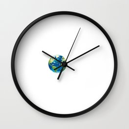 There is No Plan B Planet Wall Clock