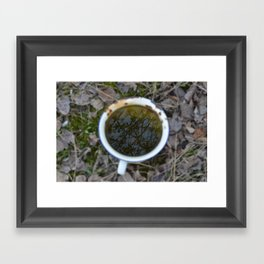 Tree in a cup Framed Art Print