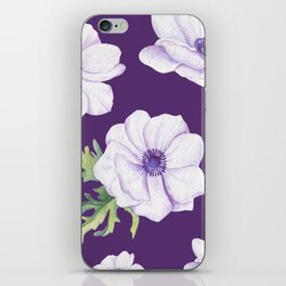 Anemones Purple #society6 #buyart iPhone Skin