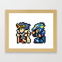 Final Fantasy II - Cecil and Kain Framed Art Print