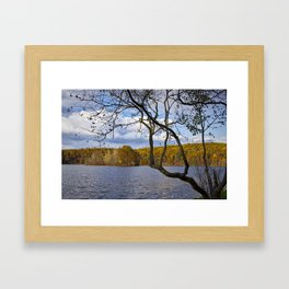 Autumn at Hall Lake by Yankee Springs in Michigan Framed Art Print