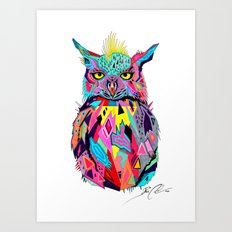 -Abstract Owl- Art Print