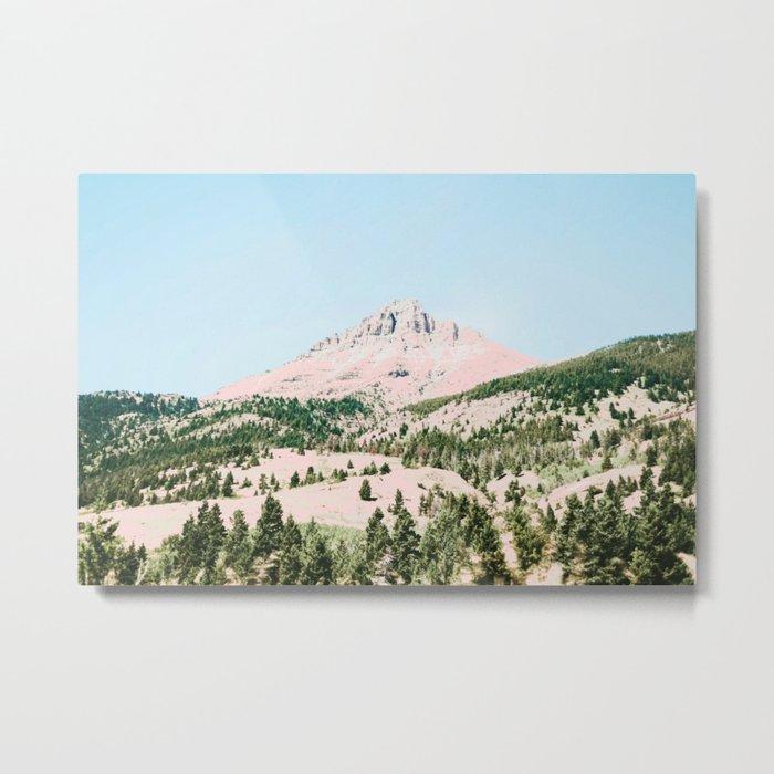 Happy Mountain #society6 #decor #buyart Metal Print
