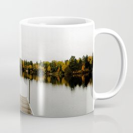 PHOTO - OF - EMPTY - WOODEN - DOCK - OVER - TRANQUIL - LAKE - PHOTOGRAPHY Coffee Mug