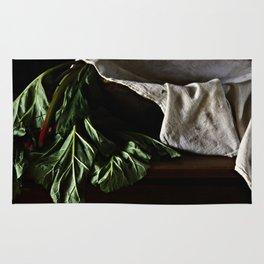 Rhubarb in Wooden Bowl Rug