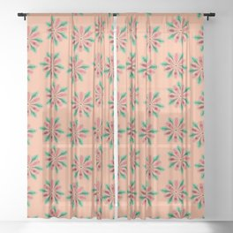 Hymen Flower Power Sheer Curtain