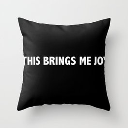 Marie Kondo This Brings Me Joy Throw Pillow