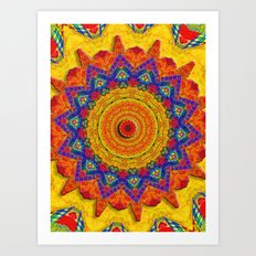 Fiesta Mosaic Art Print