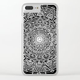 May your inner self be secure and happy (black) Clear iPhone Case