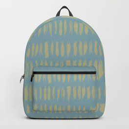 Earthy Green on Tranquil Blue Parable to 2020 Color of the Year Back to Nature Grunge Vertical Dash Backpack