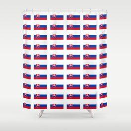 flag of slovakia -,Slovak,Slovensko,Eslovaquia,eslovaco, Czechoslovakia, Bratislava, Košice Shower Curtain