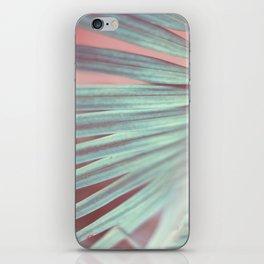 Tropical Leaf in Pink and Aqua iPhone Skin