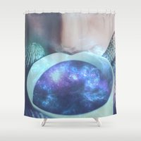 drink Shower Curtains featuring Drink up by Seamless
