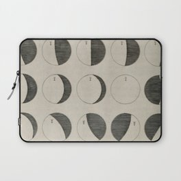 Antique Moon Phases Chart Laptop Sleeve