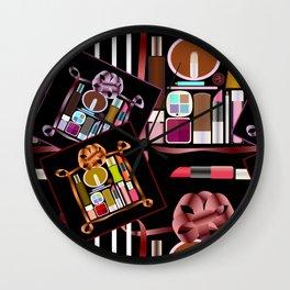Set of cosmetics and perfumes . Wall Clock
