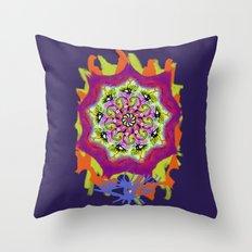 Spider Eye Splat Mandala Throw Pillow