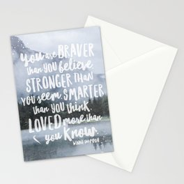 Loved More Than you Know Stationery Cards
