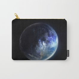Aquamarine Marble Carry-All Pouch