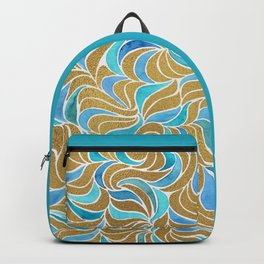 Currents - Gold and blue Backpack