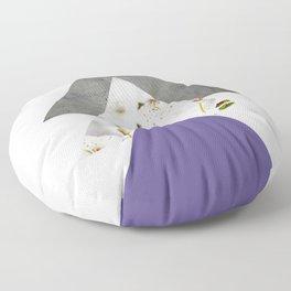 Ultra Violet Blossoms Arrows Floor Pillow